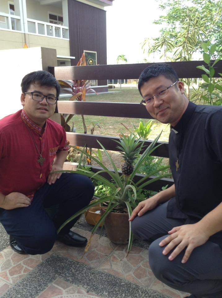 竹下修道士 サンタローザ初訪問