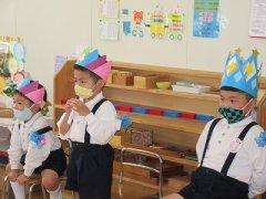 ほし・つき組の誕生会(10・11月生まれ)