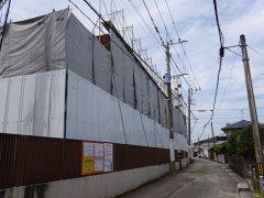 松の寮 仮囲い完了