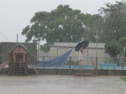 雨の中の夏まつり!