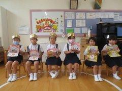 8.9月生まれのお誕生日会がありました。(^▽^)/