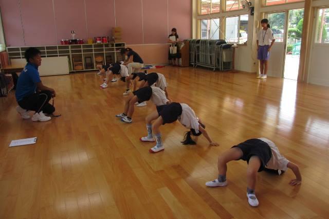 年長組の組体操